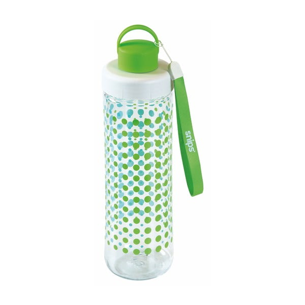Zelená fľaša na vodu Snips Decorated, 750 ml