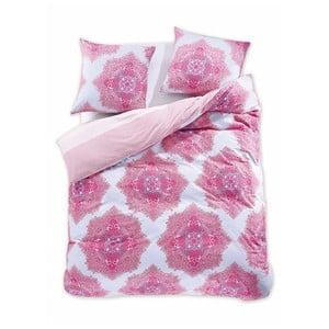 Lenjerie de pat reversibilă din bumbac pentru pat dublu DecoKing Diamond Isolde, 200 x 220 cm