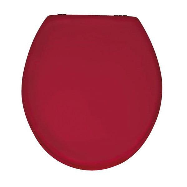 Leskle červené WC sedátko Wenko Prima, 41 x 38 cm