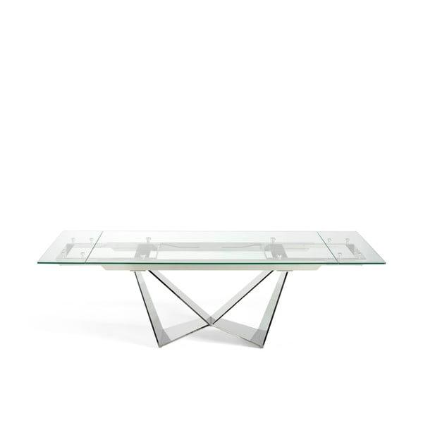 Freeze bővíthető étkezőasztal, üveglappal - Ángel Cerdá