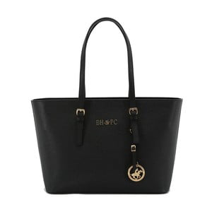 Černá kabelka z eko kůže Beverly Hills Polo Club Francesca