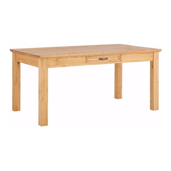 Suzie barna tömör borovi fenyőfa étkezőasztal, fiókkal - Støraa