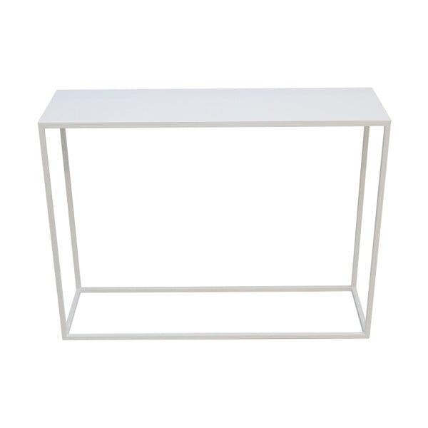 Bílý ocelový konzolový stolek take me HOME, 100x30cm
