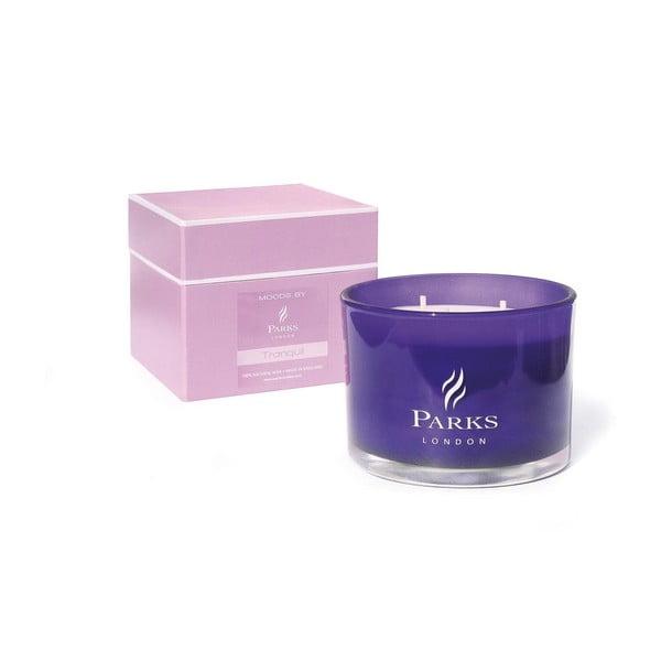 SvíčkaMoods Purple, 55 hodin hoření, vůně levandule, lilie a jasmínu