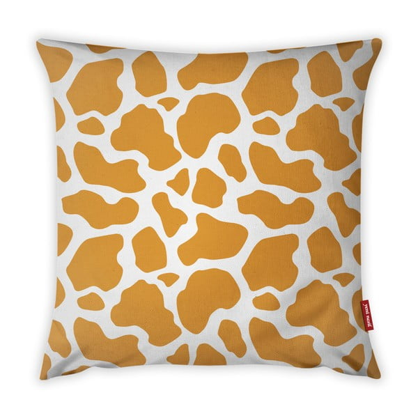 Oranžovo-bílý povlak na polštář Vitaus Animal Print, 43 x 43 cm