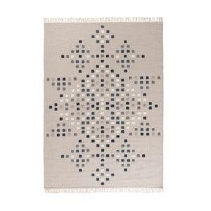 Světle šedý ručně tkaný vlněný koberec Linie Design Padova, 200x300cm