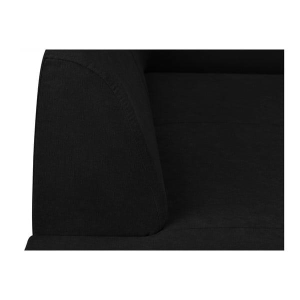 Černá rohová rozkládací pohovka s úložným prostorem Kooko Home XL Left Corner Sofa