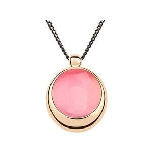 Pozlacený růžový náhrdelník s krystaly Swarovski Peony