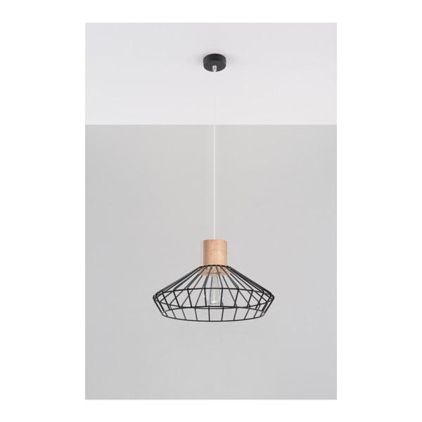 Černé závěsné svítidlo Nice Lamps Avilla