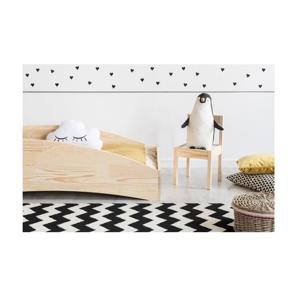 Dětská postel z borovicového dřeva Adeko BOX 6, 90x140 cm