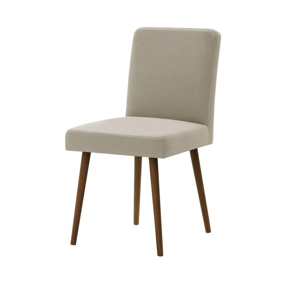Béžová židle s tmavě hnědými nohami Ted Lapidus Maison Fragrance
