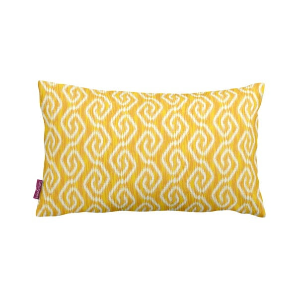 Žlutý polštář Yellow Pattern, 35x60cm