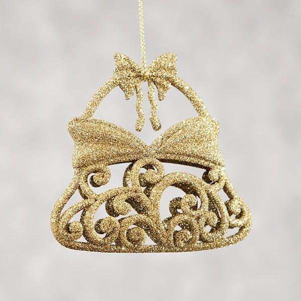 Set 6 decorațiuni din plastic pentru Crăciun DecoKing Bell, auriu