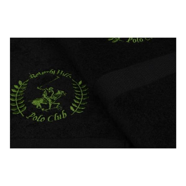Sada dvou černých osušek Beverly Hills Polo Club, 147x60cm