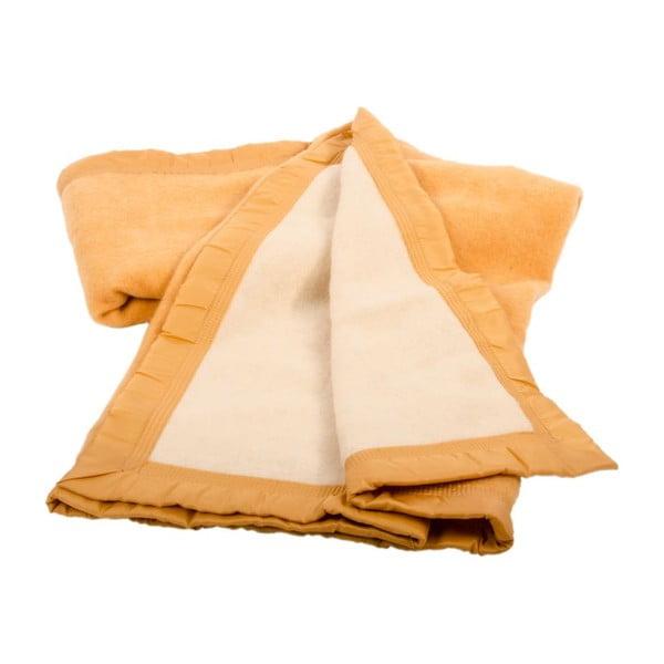 Vlněná deka Sarrazi Yellow, 180x220 cm