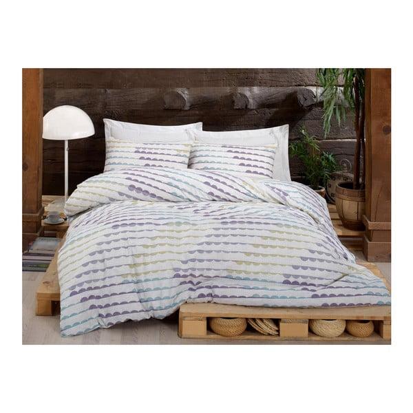 Lenjerie de pat cu cearșaf Nile Perle, 200 x 220 cm