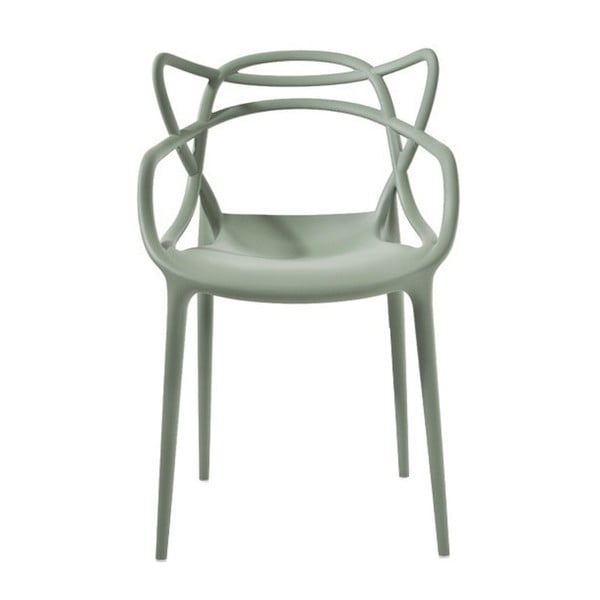 Zelená jídelní židle Kartell Masters