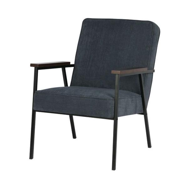 Sally kék fotel karfával - WOOOD