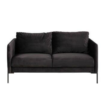 Canapea cu 2 locuri Actona Kingsley, negru antracit
