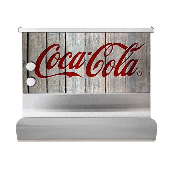 Magnetický držák na utěrku s poličkou Wenko Coca-Cola Wood