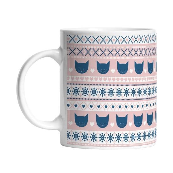 Keramický hrnek Blue and Pink, 330 ml