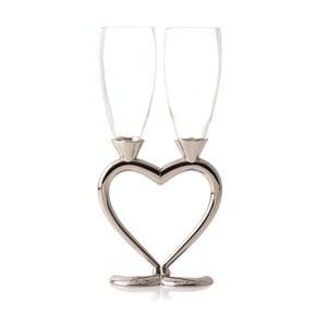 Pár skleniček na šampaňské Majestic Heart