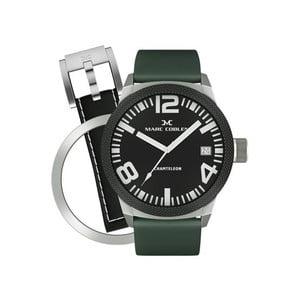 Pánské hodinky Marc Coblen s páskem a kroužkem navíc P14