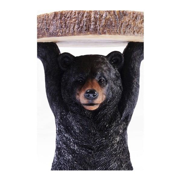 Odkládací stolek ve tvaru zvířete Kare Design Mini Bear, Ø 35 cm