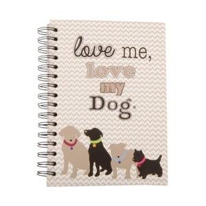 Zápisník Love me, love my dog