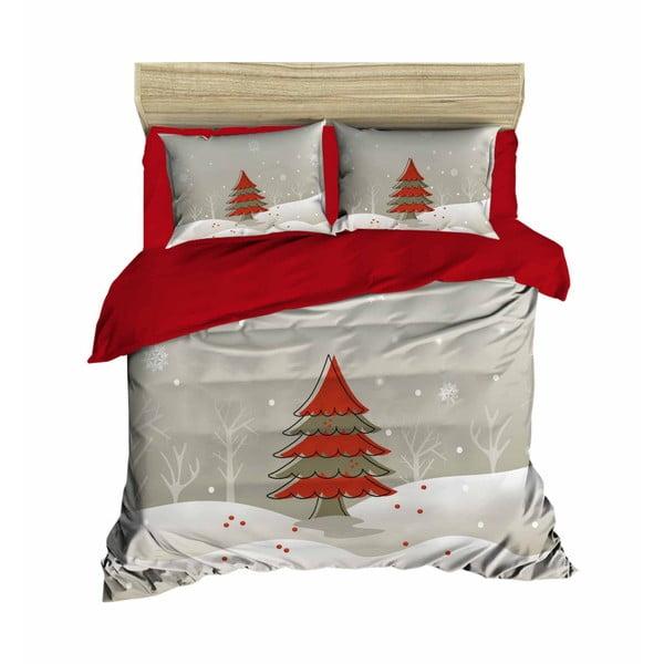 Jean karácsonyi, kétszemélyes ágyneműhuzat lepedővel, 200 x 220 cm