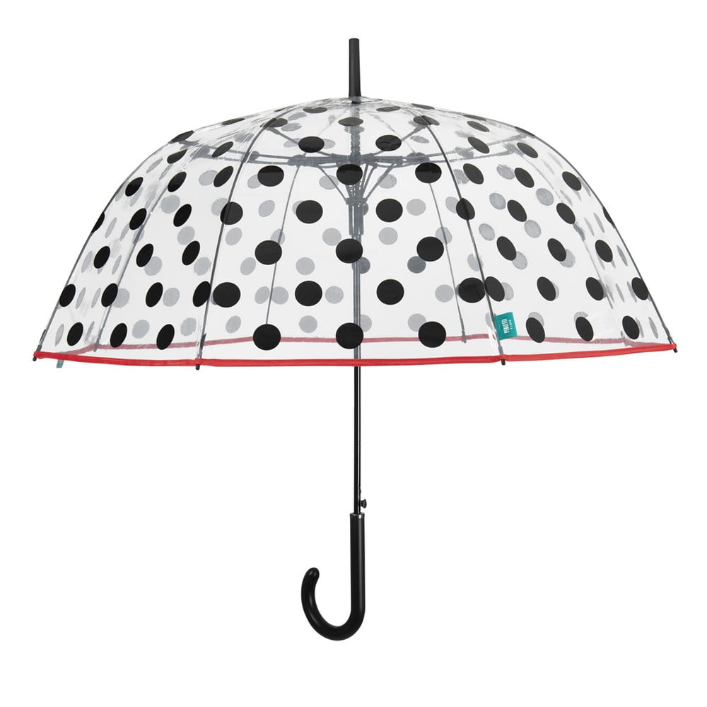 Dámský transparentní holový deštník odolný vůči větru Ambiance Dots, ⌀89cm