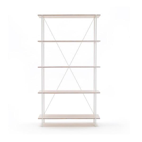 Knihovna One - bílá, 80x144 cm