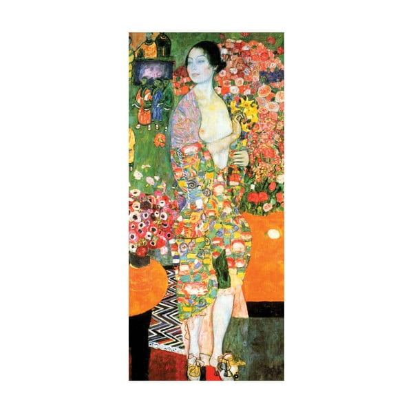 Gustav Klimt - obraz The Dancer, 90x40 cm