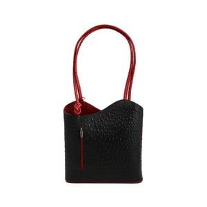 Černočervená kabelka z pravé kůže GIANRO' Straight