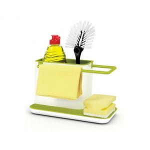 Suport pentru detergent de vase Joseph Joseph Caddy Sink Tidy alb-verde