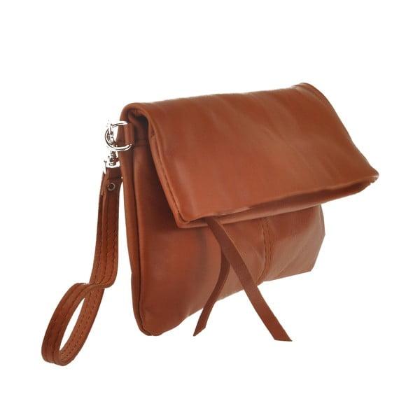 Kožená kabelka Castor, hnědá