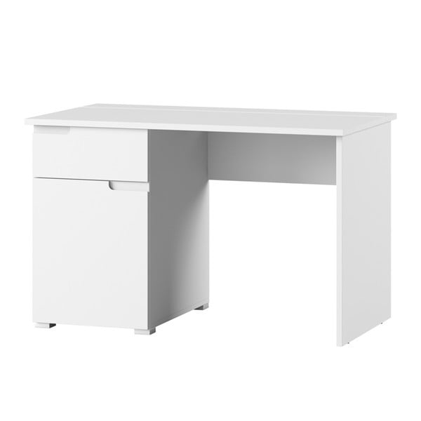 Bílý pracovní stůl s jednou zásuvkou Szynaka Meble Selene