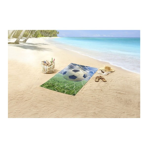 Plážová osuška s potiskem Good Morning Sander, 150 x 75 cm