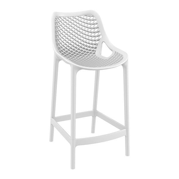 Sada 4 bílých barových židlí Resol Grid, výška 65 cm