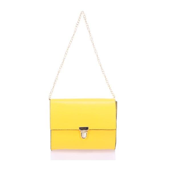 Kožená kabelka Anys, žlutá