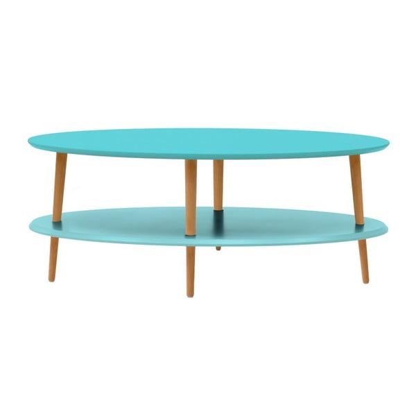 OVO türkiz kávézó asztal alsó polccal - Ragaba