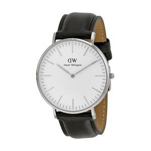 Dámské hodinky s černým páskem Daniel Wellington Sheffield Silver, ⌀36mm