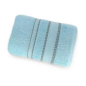 Bledě modrá osuška ze 100% bavlny Marie Lou Remix, 150 x 90 cm