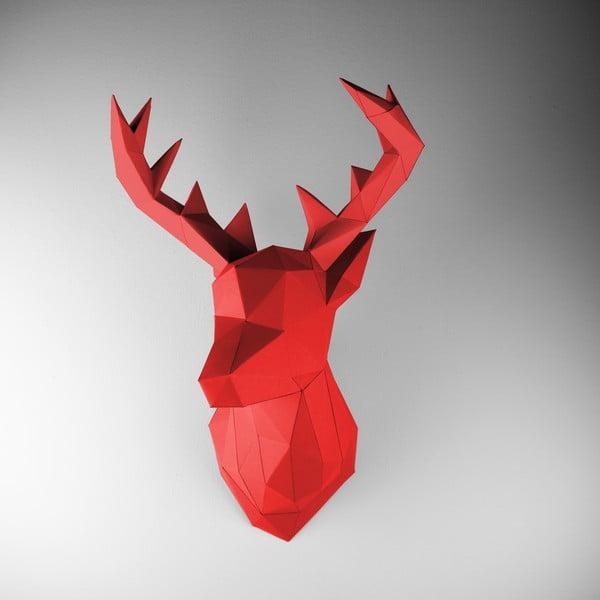 Papírová trofej Jelen, červený