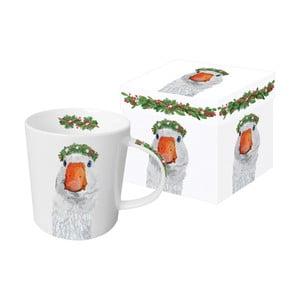 Hrnek z kostního porcelánu s vánočním motivem v dárkovém balení PPD Glacier Goose, 350 ml