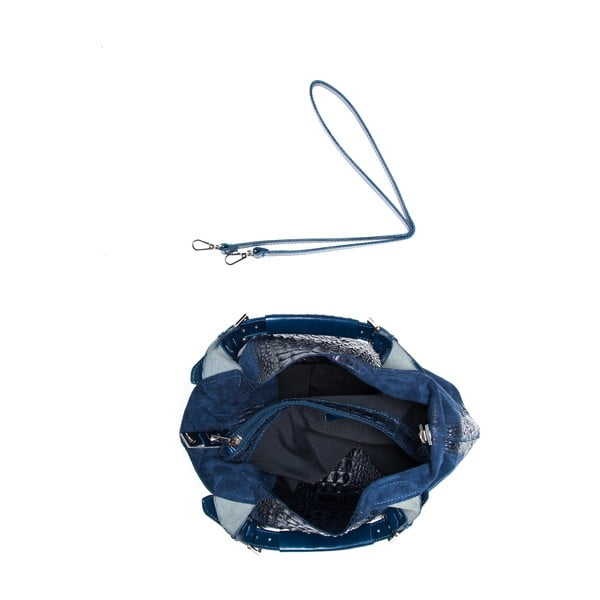 Kožená kabelka Roberta M. 820 Blue