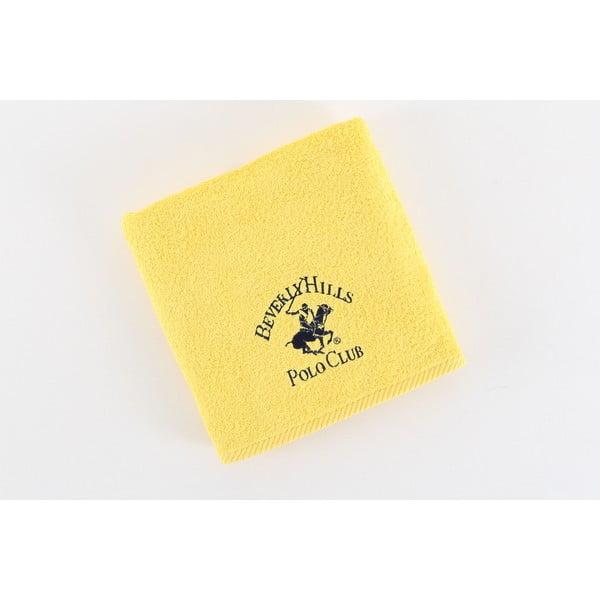 Bavlněný ručník BHPC 50x100 cm, světle žlutý