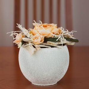 Květinová dekorace od Aranžérie, malé oranžové růže