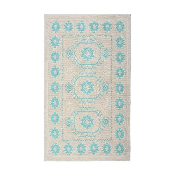 Tyrkysový bavlněný koberec Floorist Oni, 120x180cm