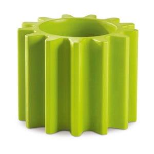 Zelený květináč/stolička Slide Gear, 55x43cm